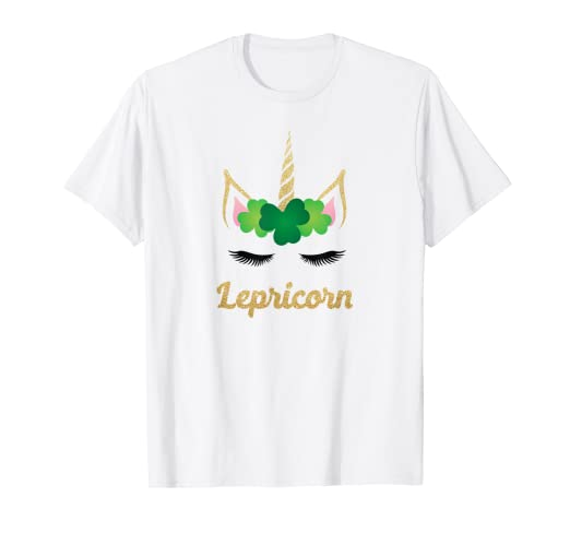 1f8241062 Image Unavailable. Image not available for. Color: Unicorn St. Patrick's  Day Shirt Lepricorn Cute Girls Tshirt