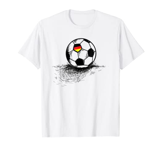 b3a22f6a4 Image Unavailable. Image not available for. Color  Germany Soccer Ball Flag Jersey  Shirt - German Football Gift