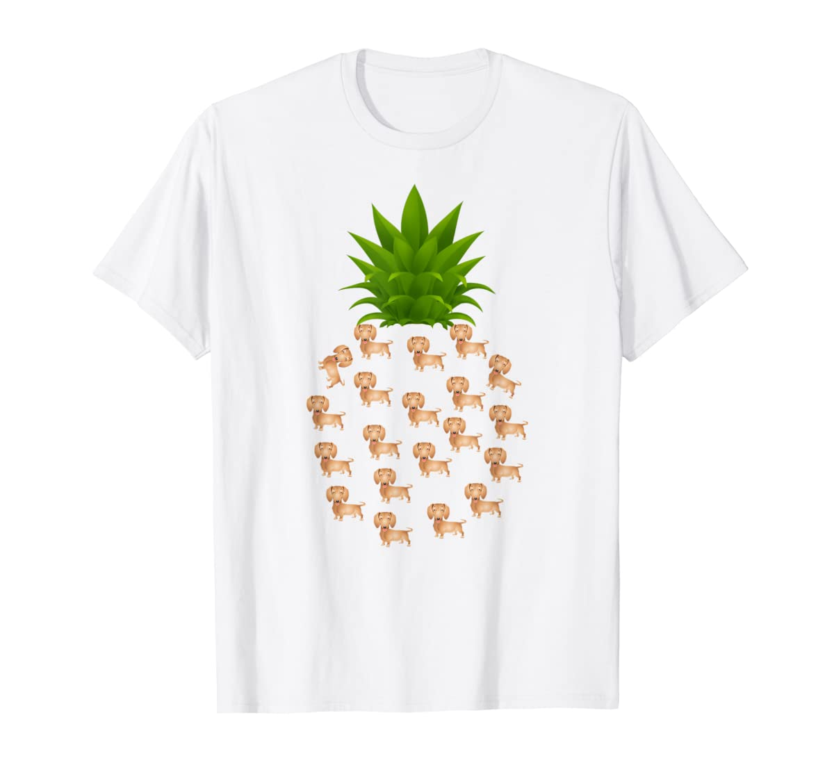 Pineapple Dachshund T-Shirt. Birthday Gift Dachshund Lovers-Men's T-Shirt-White