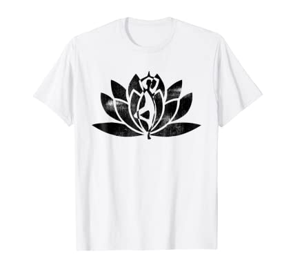 Yoga Flower and Pose lifestyle T Shirt instructors students