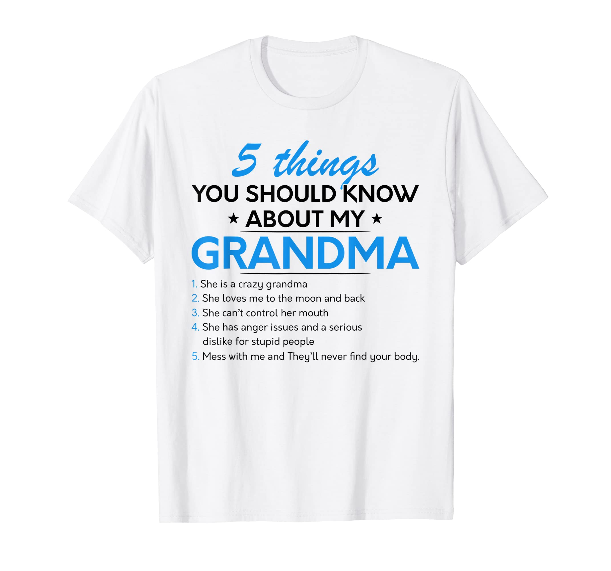 Amazon com: 5 Things You Should Know About My Grandma T
