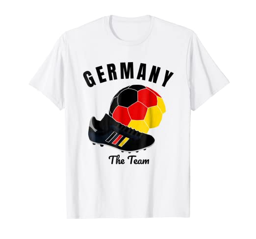 70ca87a9d Image Unavailable. Image not available for. Color  Germany Soccer Jersey T-Shirt  German Deutschland ...