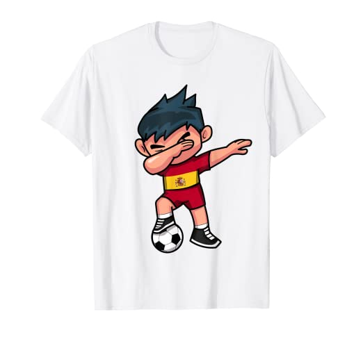 f11ec7059de Image Unavailable. Image not available for. Color  Dabbing Soccer Boy T Shirt  Spain Spanish Football