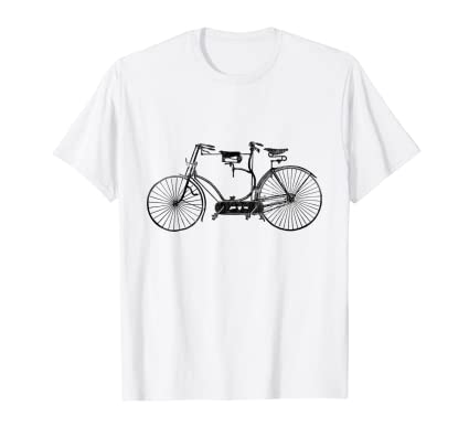 Vintage Tandem Bicycle t shirt for antique bike collectors