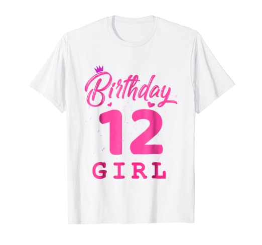 Image Unavailable Not Available For Color Happy Birthday Shirt Girls 12th Party 12 Years Old Bday