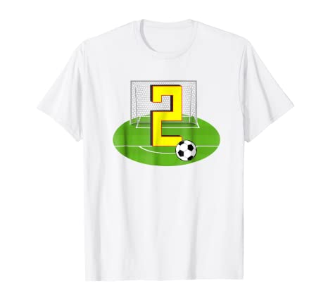 Number 2 2nd Birthday Soccer T Shirt For Years Old