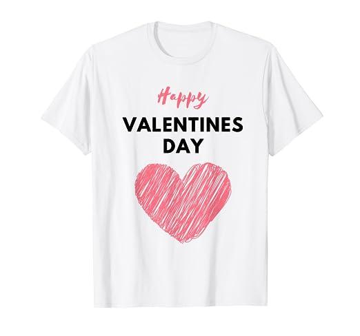 c5e915ed Amazon.com: Happy Valentines Day Heart Love Tshirt: Clothing