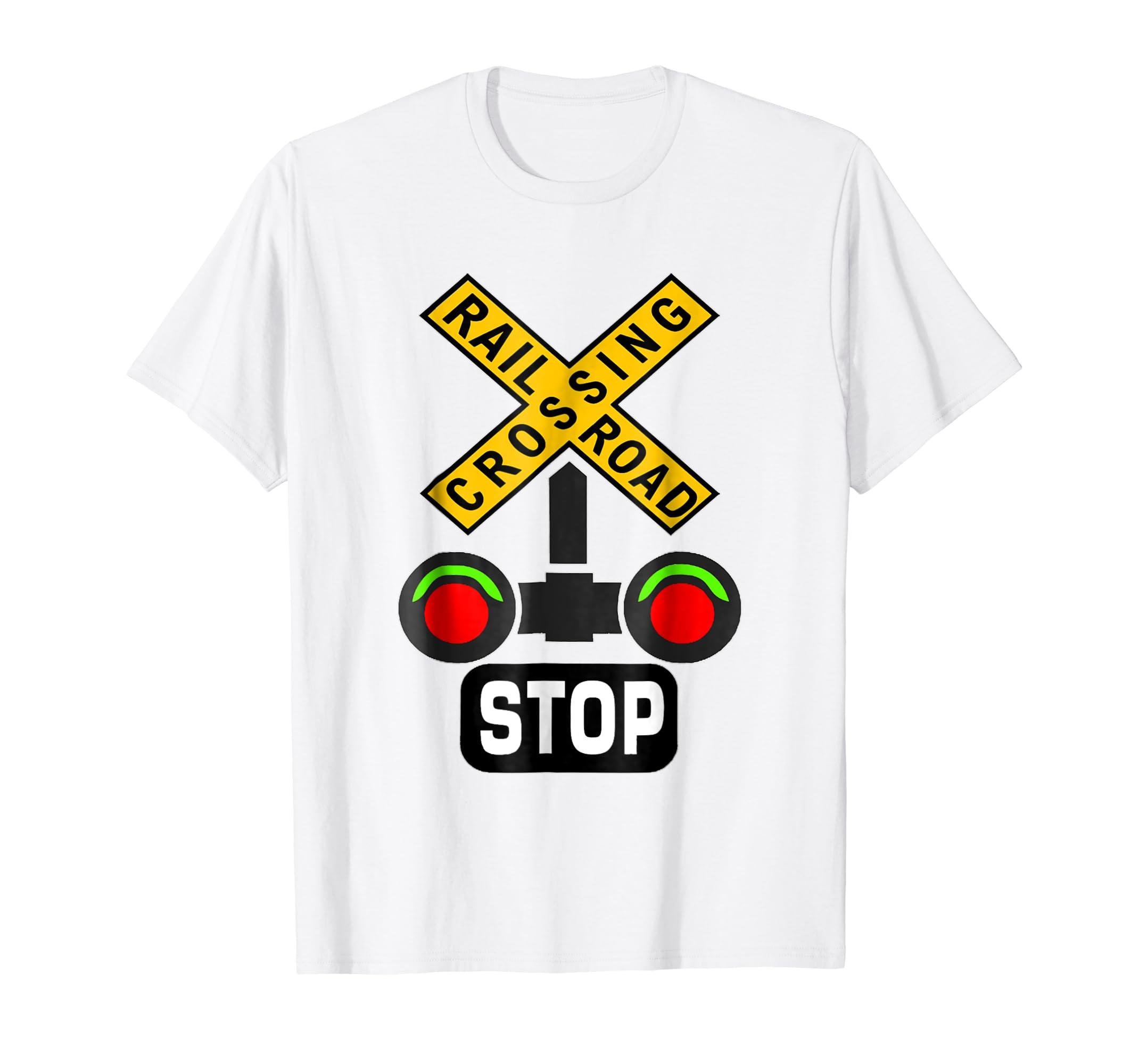 Train Railroad Crossing Lights Halloween Costume T Shirt-Colonhue