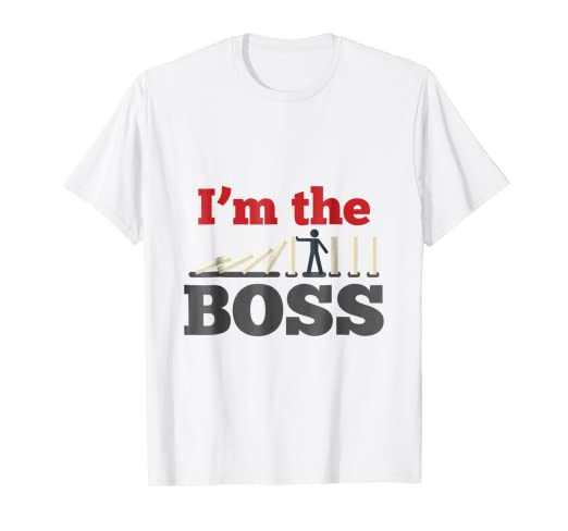 faa2905d4f Image Unavailable. Image not available for. Color: I'm The Boss T-Shirt  Funny Boss Day Gift for Manager or CEO
