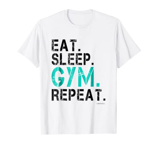 446cfd2ad27 Image Unavailable. Image not available for. Color  Eat Sleep Gym Repeat T  Shirt - Funny Gym Workout Shirts