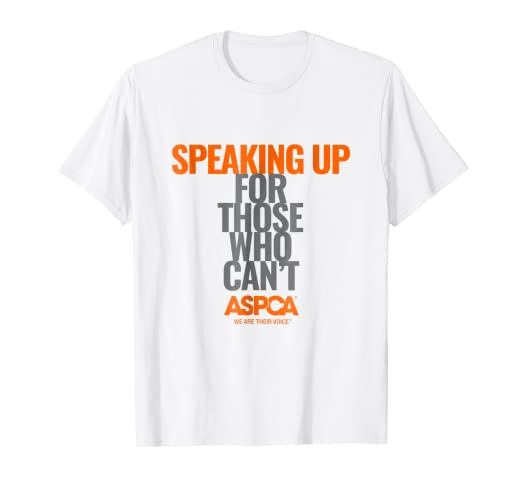 4cdfd9f070 Amazon.com  ASPCA Speaking Up for Those Who Can t Text T-Shirt Light ...