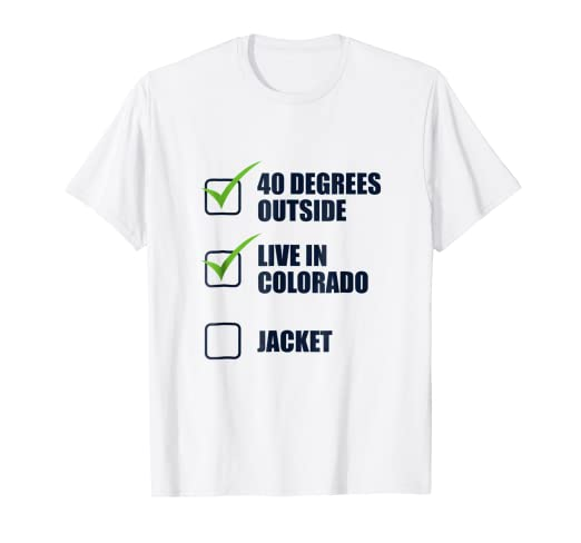 Amazon com: Colorado Life Checklist Print T Shirt Merch For Men