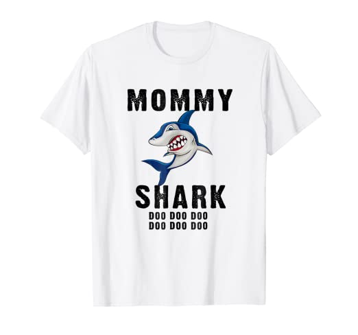 cfdd6735 Image Unavailable. Image not available for. Color: Mommy Shark Shirt Mother  Grandma Halloween Christmas
