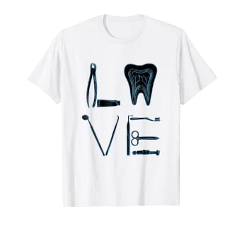 d8427789e7 Image Unavailable. Image not available for. Color: Dental Love Shirt - Funny  Dentist Hygienist Student Gift Tee