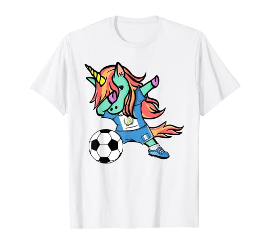 new styles a1845 ca11c Amazon.com: Unicorn Dabbing Guatemala Soccer Jersey Football ...