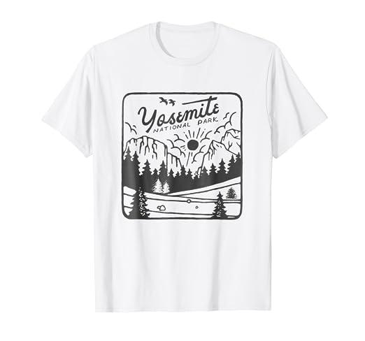 2c01c269b Amazon.com: Yosemite National Park T Shirt Vintage Souvenirs Scenery ...