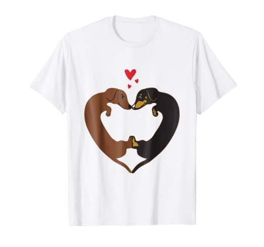 06a377cda Image Unavailable. Image not available for. Color: Dachshund Heart Shirt - Valentine's  Day Tee