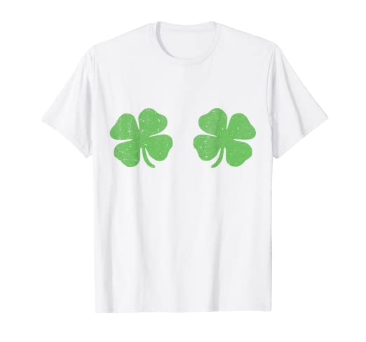 Image Unavailable. Image not available for. Color  Irish Shamrock Boobs  Saint St.Patrick s Paddys Day T-Shirt c7fc6c39b
