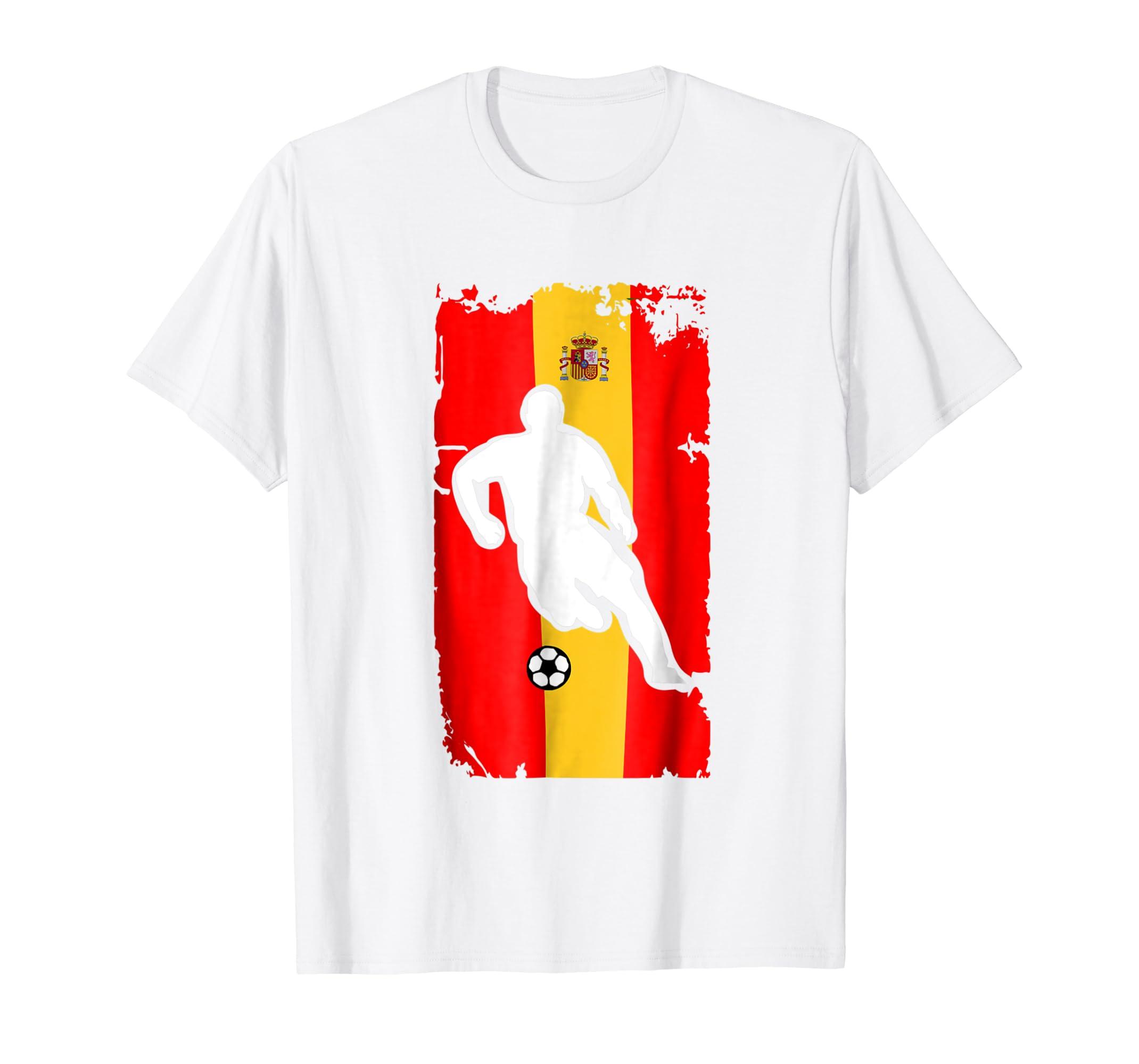 Amazon.com: Spain Soccer Jersey - Spanish Flag | Football Futbol: Clothing
