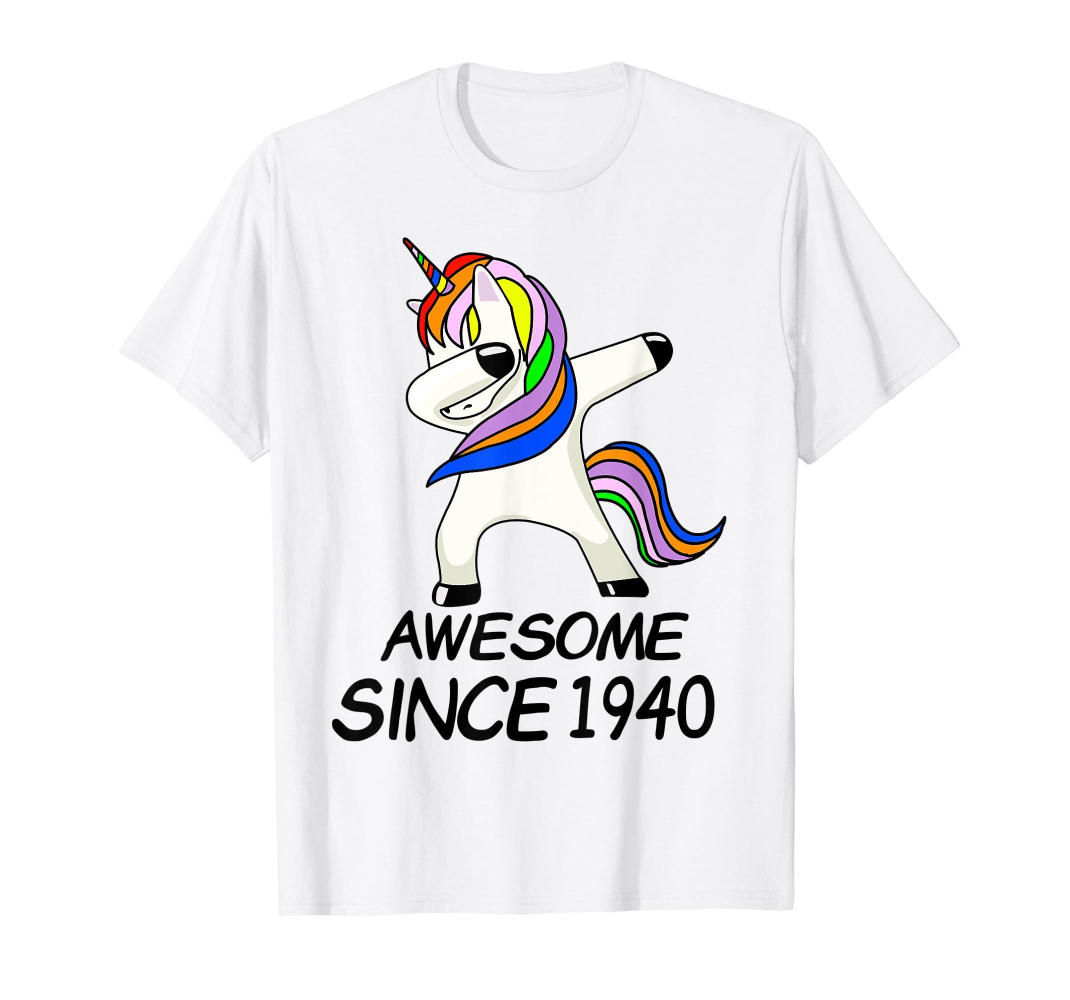 Amazon com: Unicorn Dabbing 79th Birthday Shirt Awesome