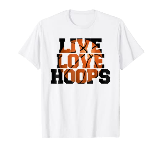 5e90b164 Image Unavailable. Image not available for. Color: Live Love Hoops  basketball player training t-shirt