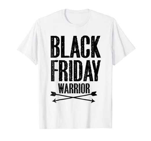 4bb16dc62ce9b Image Unavailable. Image not available for. Color: Black Friday Warrior funny  holiday shopping t-shirt