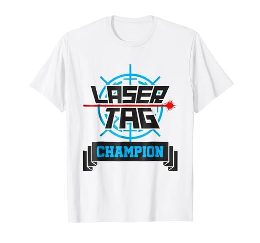 d5bfed5e9b53 Amazon.com  Laser Tag Champion T-shirt Girls Boys Kids Funny Champ ...