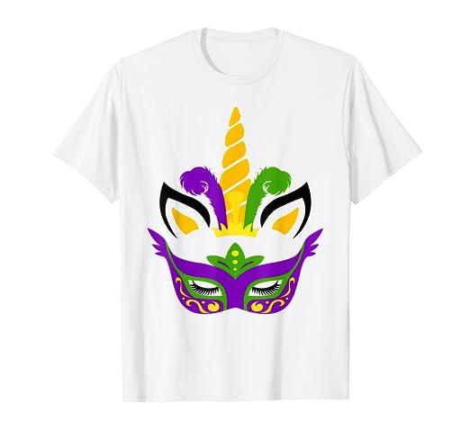 Amazon Com Unicorn And Mask Mardi Gras Shirt Girl Kid Toodler Women