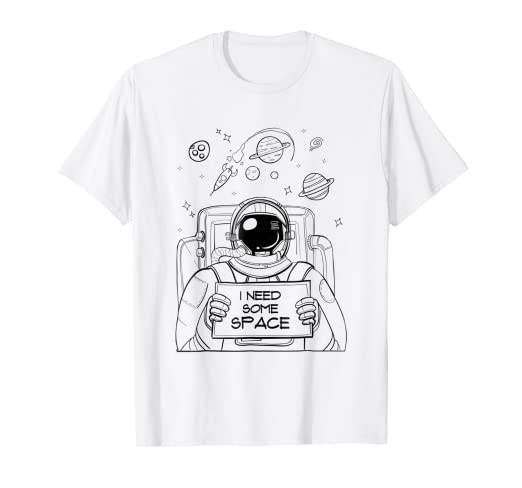 Amazon.com: Astronaut I Need My Space Coloring T-shirt Space ...