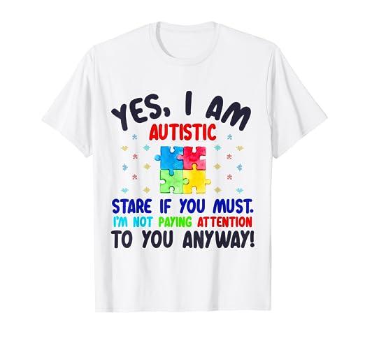 6ad777e950f Amazon.com: Autistic T-shirt For Kids Autism Awareness Shirts Women ...