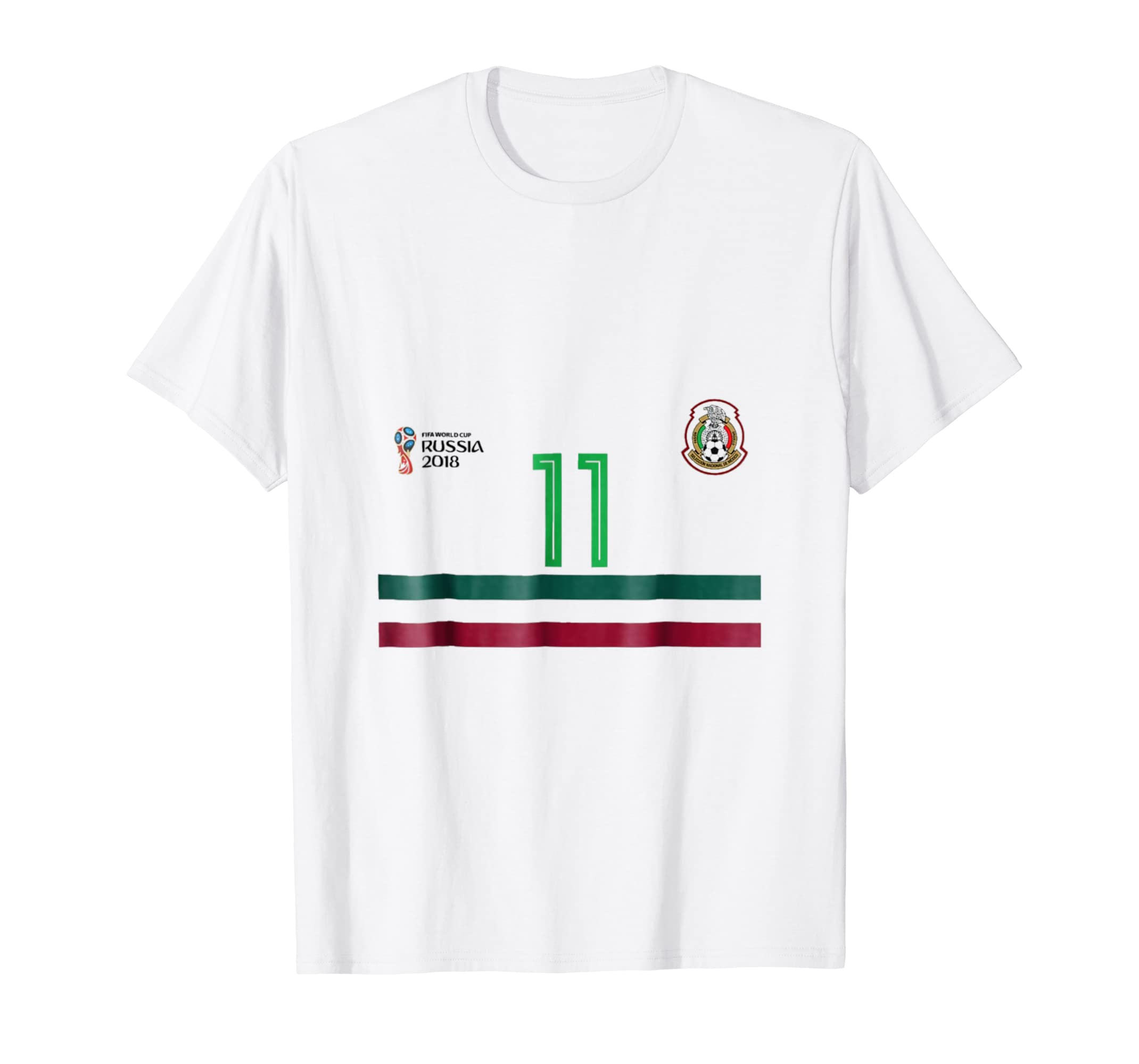 Amazon.com  Mexico Classic Jersey Soccer Team No.11 Carlos Vela T-shirt   Clothing 50a821414
