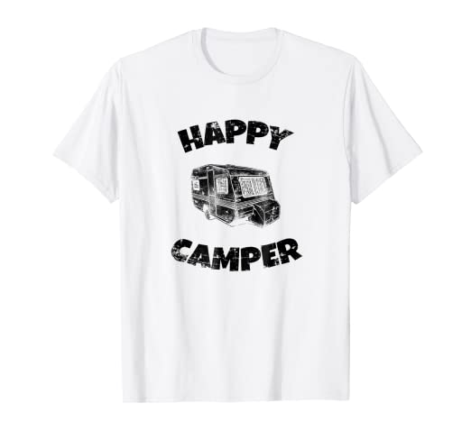 16c40e31827b Image Unavailable. Image not available for. Color  Happy Retro Trailer Camper  T-Shirt