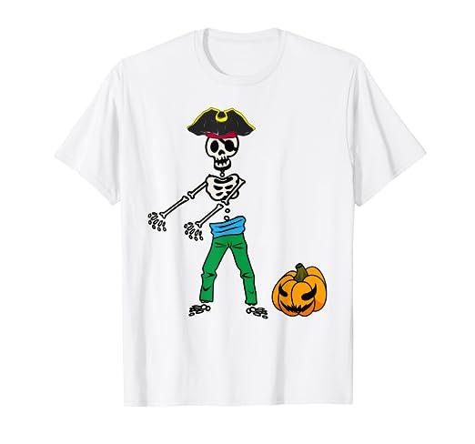 6abfcc17 Amazon.com: Floss Dance Skeleton Pirate Shirt | Halloween Flossing ...