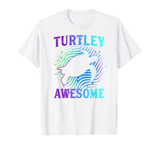 01930c851 Image Unavailable. Image not available for. Color: Turtley Awesome Funny  Turtle Pun T-Shirt Sea Turtle Tee Gift