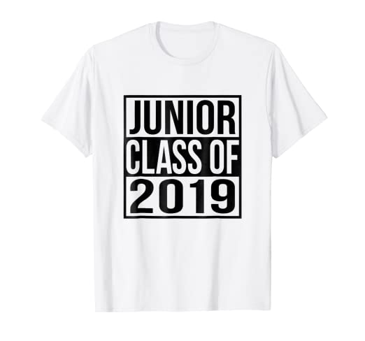 4c0f75120 Amazon.com: Junior Class of 2019 T-Shirt High School Class Student ...