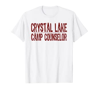 25455a2f6d08 Image Unavailable. Image not available for. Color  Crystal Lake Camp  Counselor T-Shirt ...