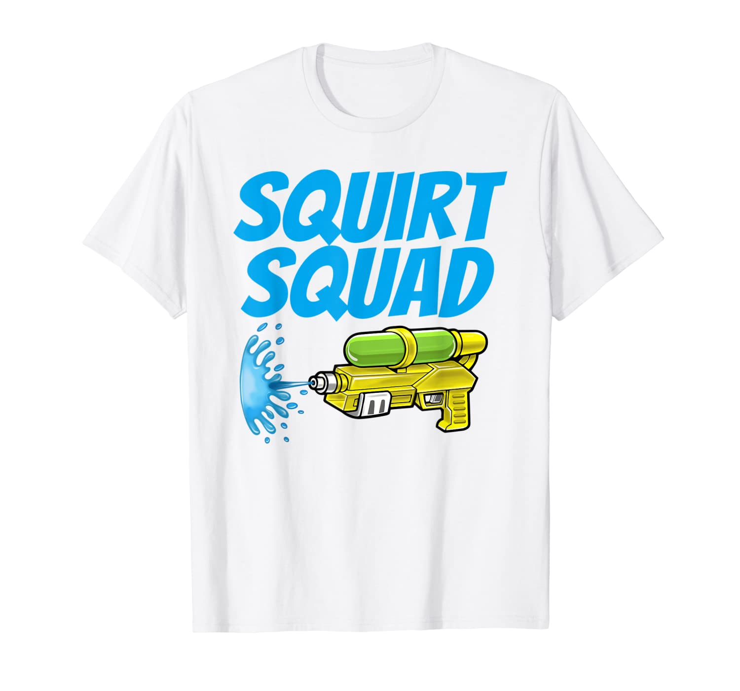 Amazon.com: Squirt Squad Water Summer Art T-Shirt for Men ...