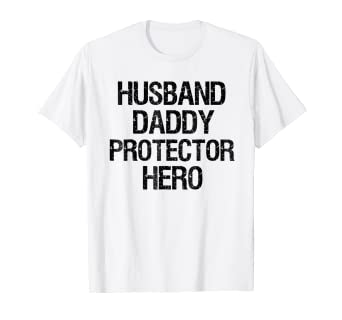 7f306e9f Image Unavailable. Image not available for. Color: Husband Daddy Protector  Hero Shirt Fathers Day Gift Dad Tee