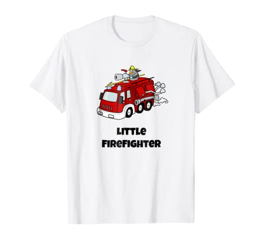 36e45f5a55e Image Unavailable. Image not available for. Color: Fire Trucks: Little  Firefighter, Kids Red Fire Truck T Shirt