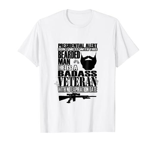 2e1225ef Amazon.com: Funny Bearded Veterans T Shirt For Men | Veterans Day ...