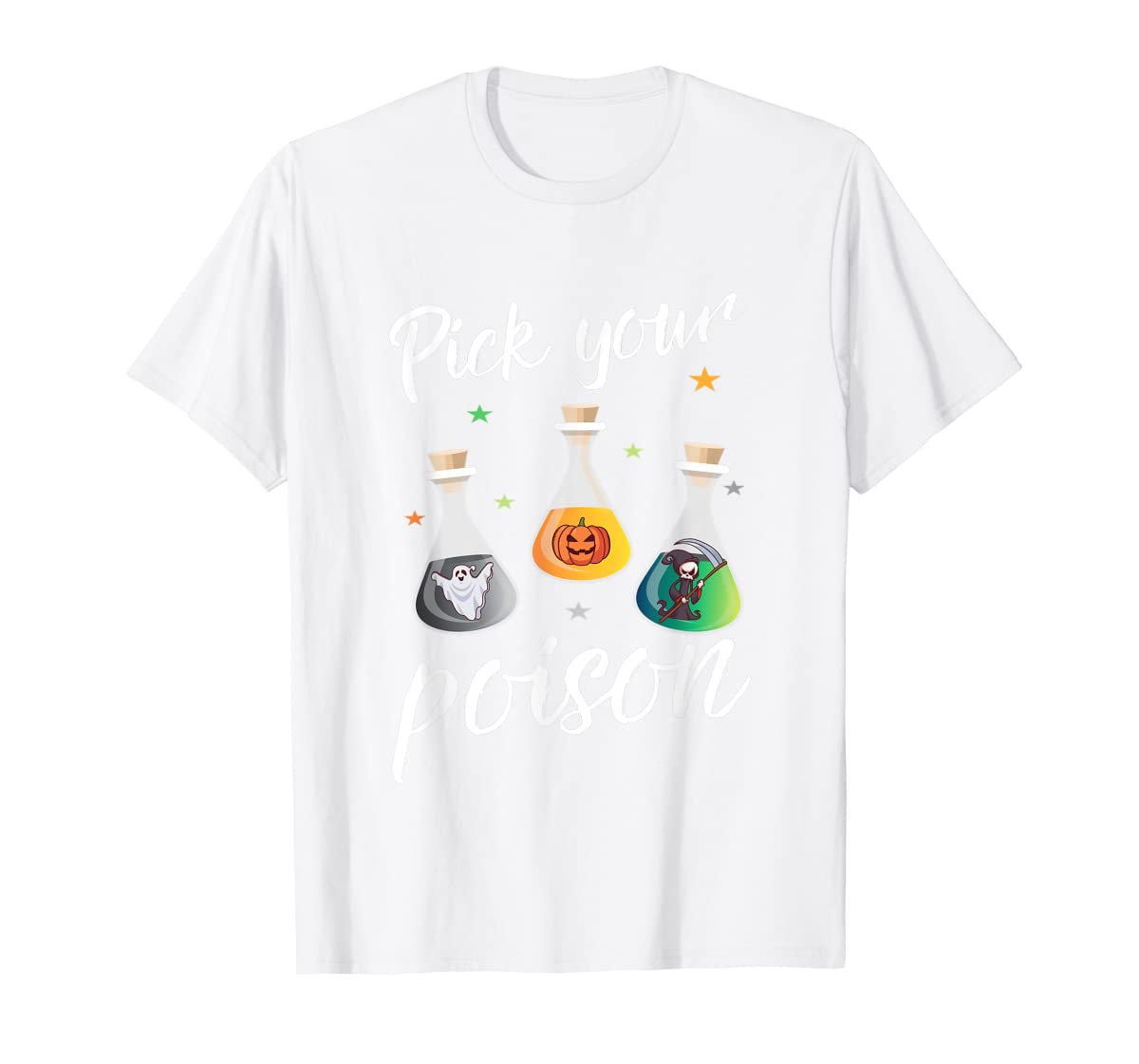 Pick your poison potion gift for a halloween party T-Shirt-Men's T-Shirt-White