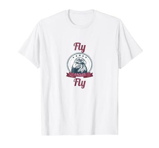 f891c7c59 Amazon.com  Fly Eagles Fly Shirt  Eagle Lover T-Shirt  I Love Eagles ...