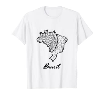 Amazon Com Brazil T Shirt Coloring Page Tee Clothing
