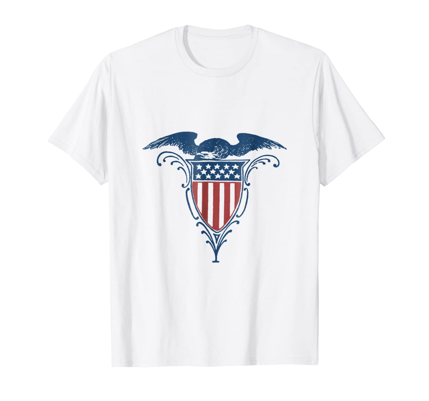 Vintage Red White Blue Eagle on Shield Stars Stripes T-Shirt
