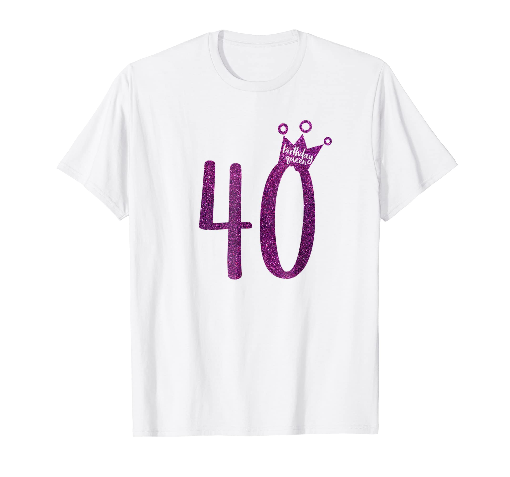 Amazon Purple Glitter 40th Birthday Shirt Queen Clothing