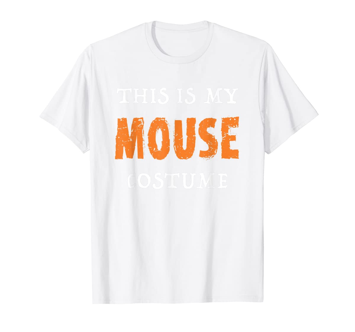 Funny This Is My Mouse Costume Halloween  T-Shirt-Men's T-Shirt-White