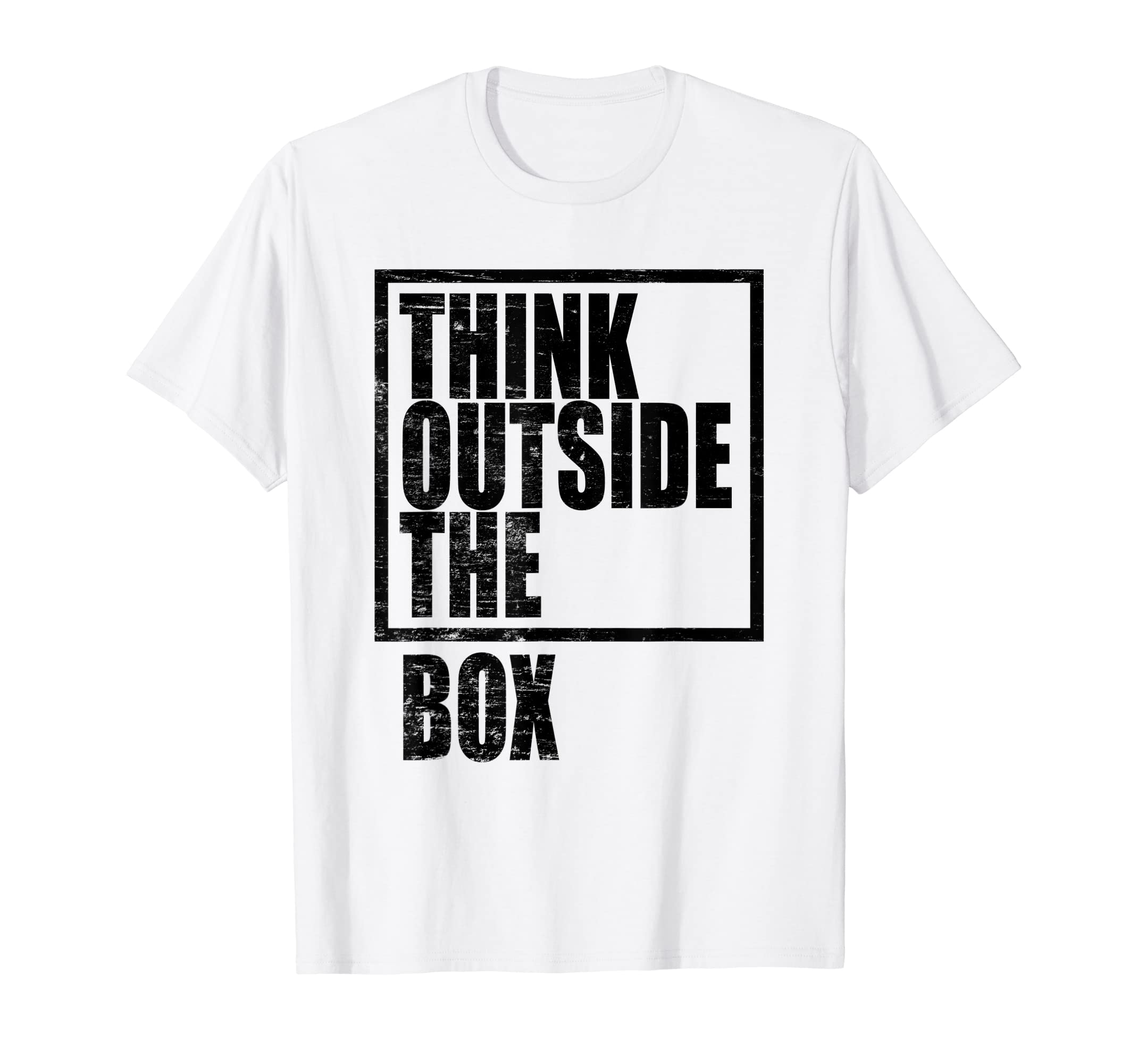 e3bd4f973 Amazon.com: Think Outside The Box T-Shirt for Men and Women: Clothing