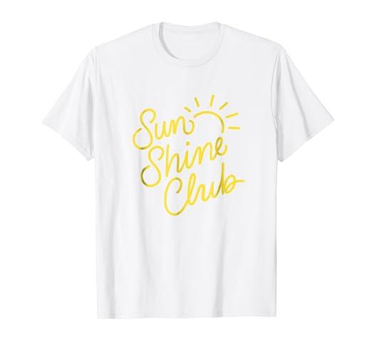 2885ea3af0f7 Amazon.com  Yellow Sunshine Club T-shirt with Sun  Clothing