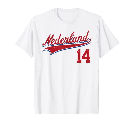 another chance 0585b 9b7fe Amazon.com: Retro Netherlands Jersey Nederland Baseball T ...