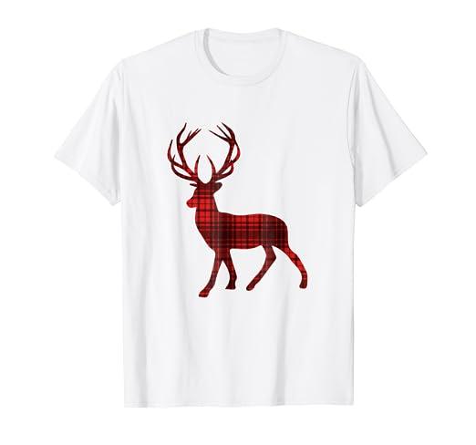 Amazon com: Buffalo Plaid Deer Shirt - Buck Buffalo Check: Clothing